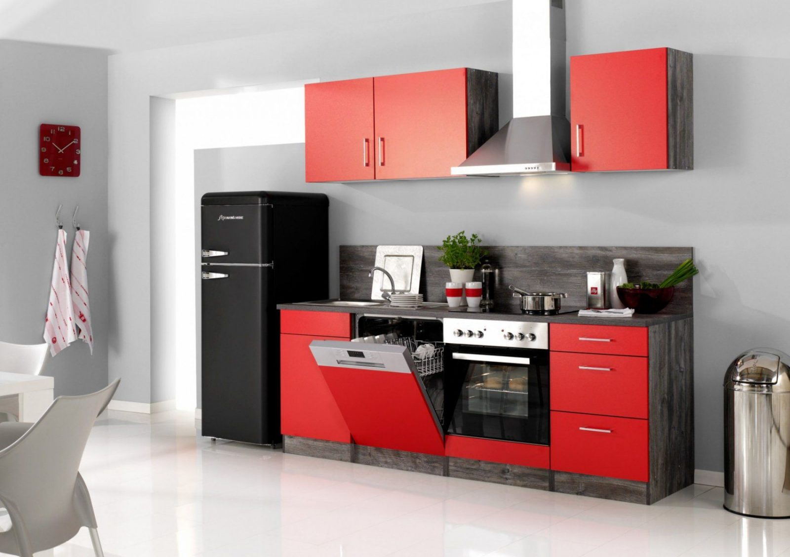 Küchenzeile Sevilla  Küche Mit Egeräten  Breite 280 Cm 14Teilig von Küchenzeile 280 Cm Mit Elektrogeräten Günstig Photo