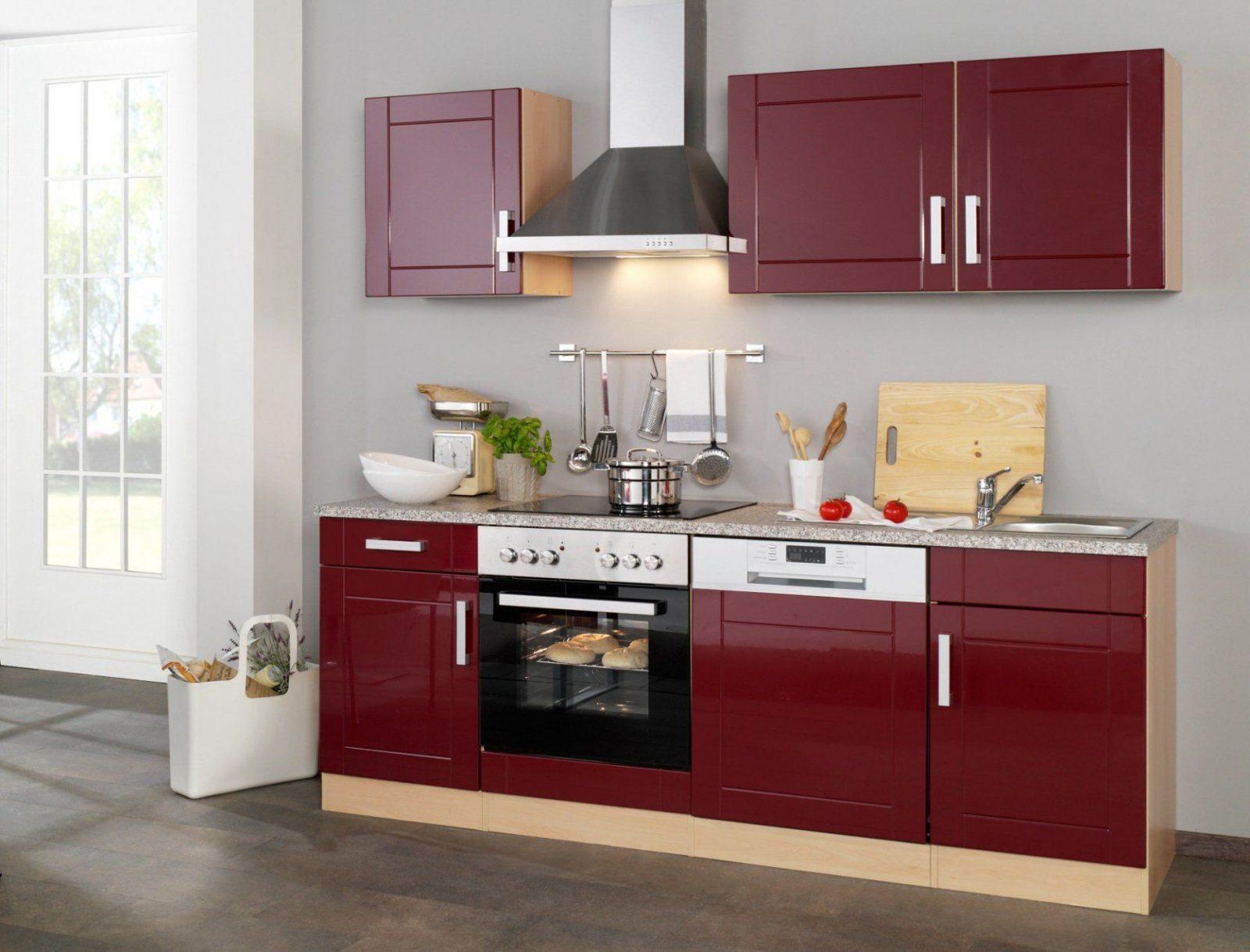 Küchenzeile Varel  Küche Mit Egeräten  Breite 220 Cm  Hochglanz von Küchenzeile 280 Cm Mit Elektrogeräten Günstig Photo