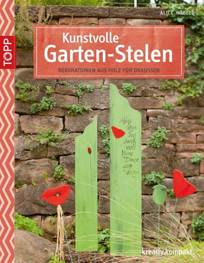 Kunstvolle Gartenstelen  Draußen Holz Und Dekoration von Dekorieren Mit Holz Im Garten Photo
