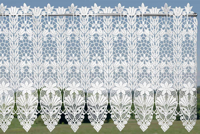 Kurzgardine Küche Panneaux Scheibengardinen Aus Echter Plauener von Gardinen Plauener Spitze Meterware Bild