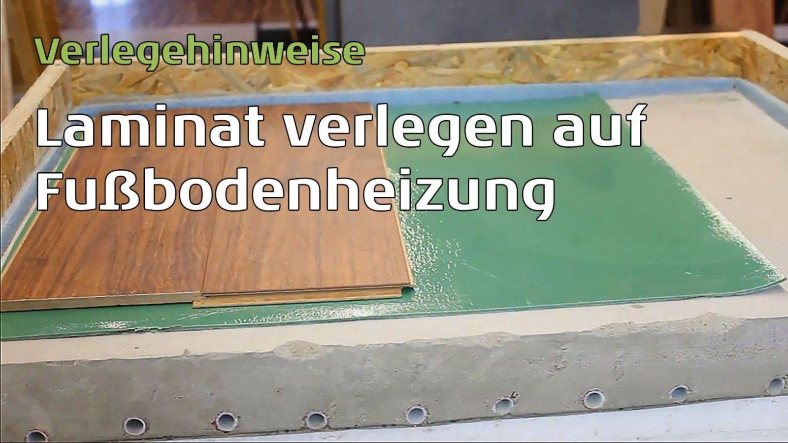 Laminat Auf Fußbodenheizung Schwimmende Verlegung Parkettwohnwelt von Laminat Auf Fliesen Kleben Photo