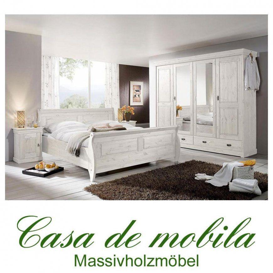 Landhaus Schlafzimmer Roland Ii Kiefer Massiv Weiß Lasiert von Landhaus Schlafzimmer Komplett Massiv Bild