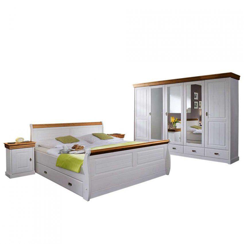 Landhaus Schlafzimmer Scots In Weiß Aus Kiefer  Pharao24 von Schlafzimmer Komplett Weiß Landhaus Photo