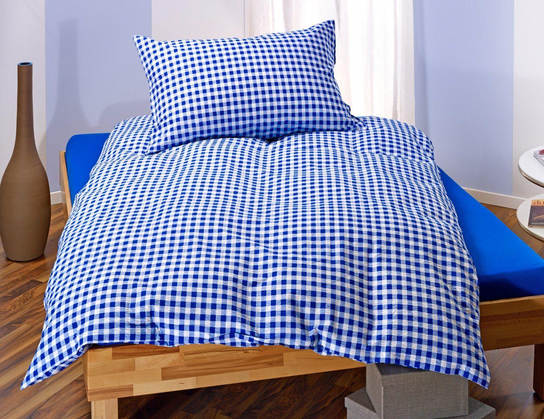 Landhausbettwäsche Blauweiss Kariert ⋆ Lehner Versand von Bettwäsche Landhausstil Weiß Bild