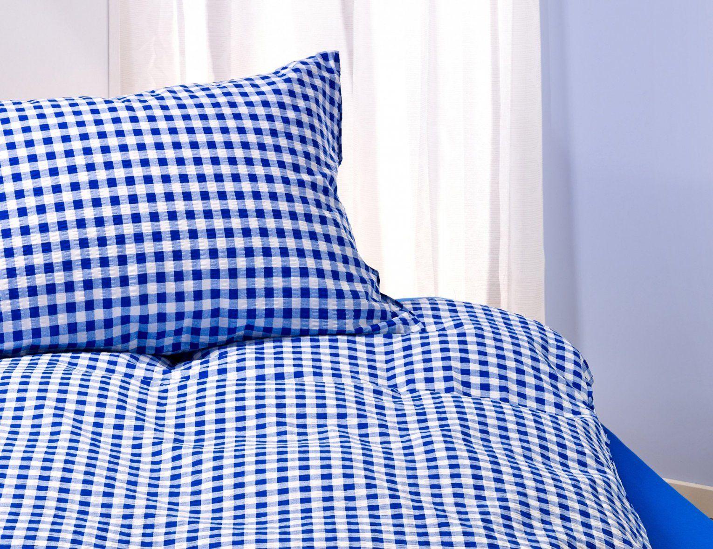 Landhausbettwäsche Blauweiss Kariert ⋆ Lehner Versand von Landhaus Bettwäsche Kariert Bild