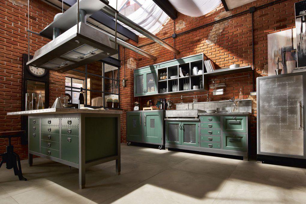 Landhausküche Loft  Küche Im Vintage Style  Edle Küchen von Küchen Im Vintage Stil Bild