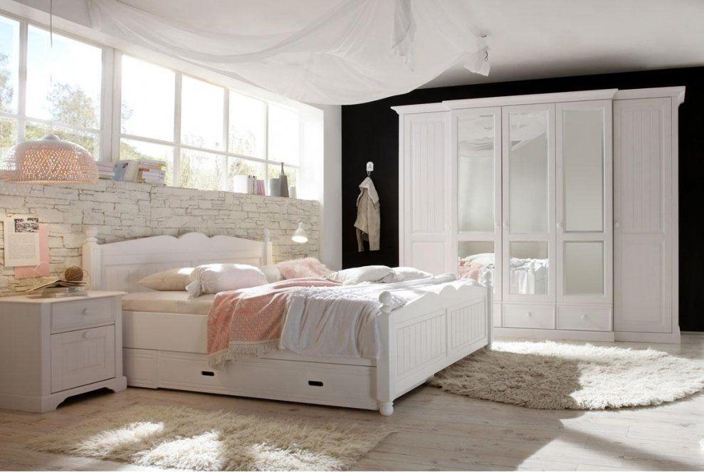 Landhausstil Schlafzimmer Komplett  Cinderella  Front Massiv  W02 von Landhaus Schlafzimmer Komplett Massiv Bild