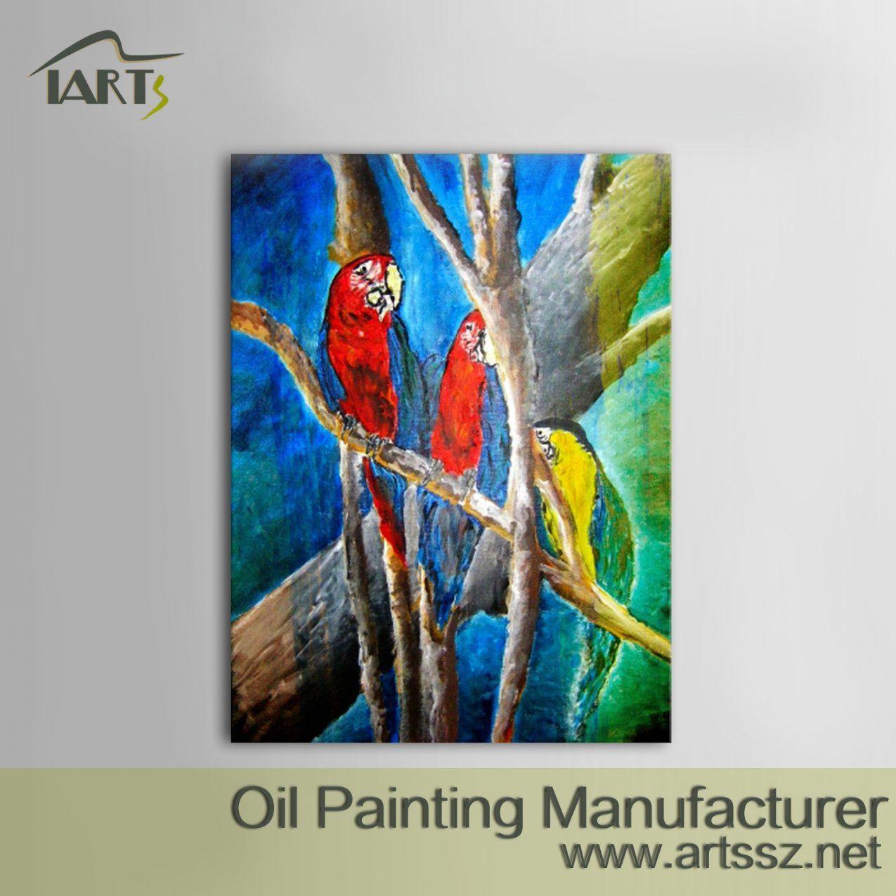 Landscape Ölgemälde  Kultur Wissenschaft Und Technology Co Ltd von Papageien Bilder Auf Leinwand Photo