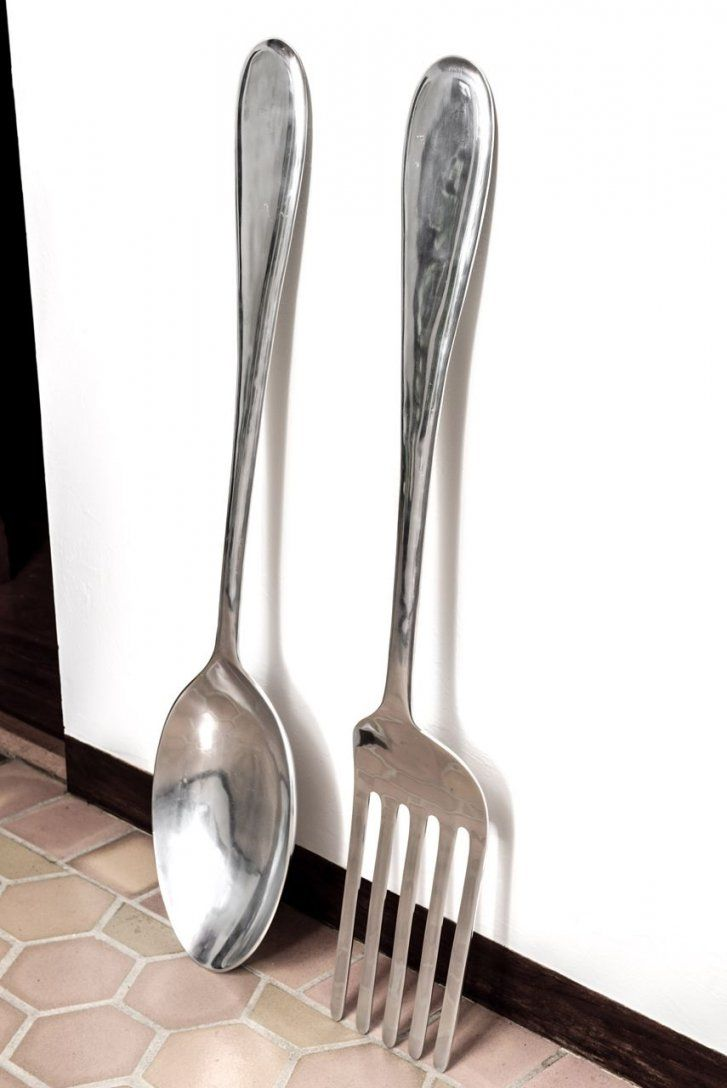Large Fork And Spoon Wall Hanging  Spoon Walls And Wall Hangings von Large Fork And Spoon Bild