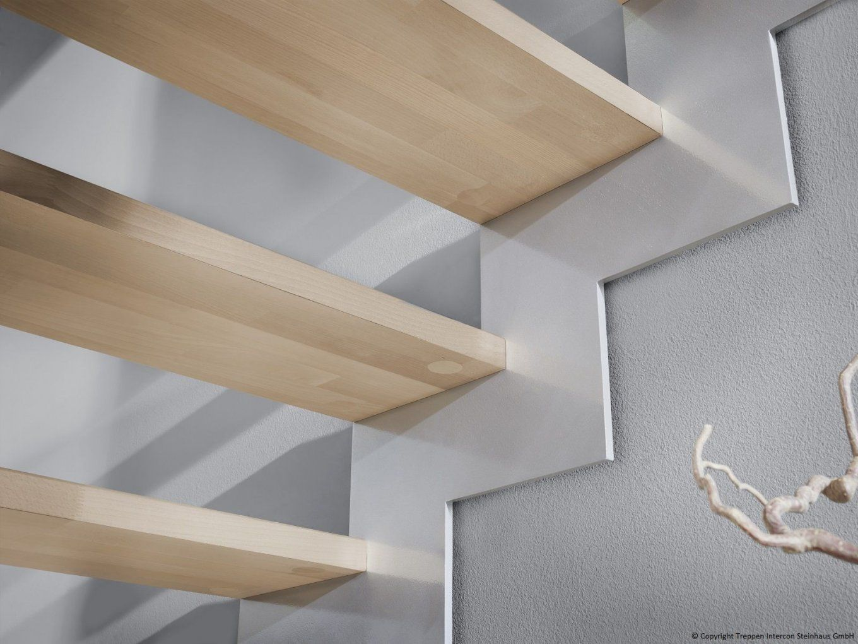 Lasergeschnittene Treppe 14 Gewendelt Als Moderne Wangentreppe von Raumspartreppe 1 4 Gewendelt Bild