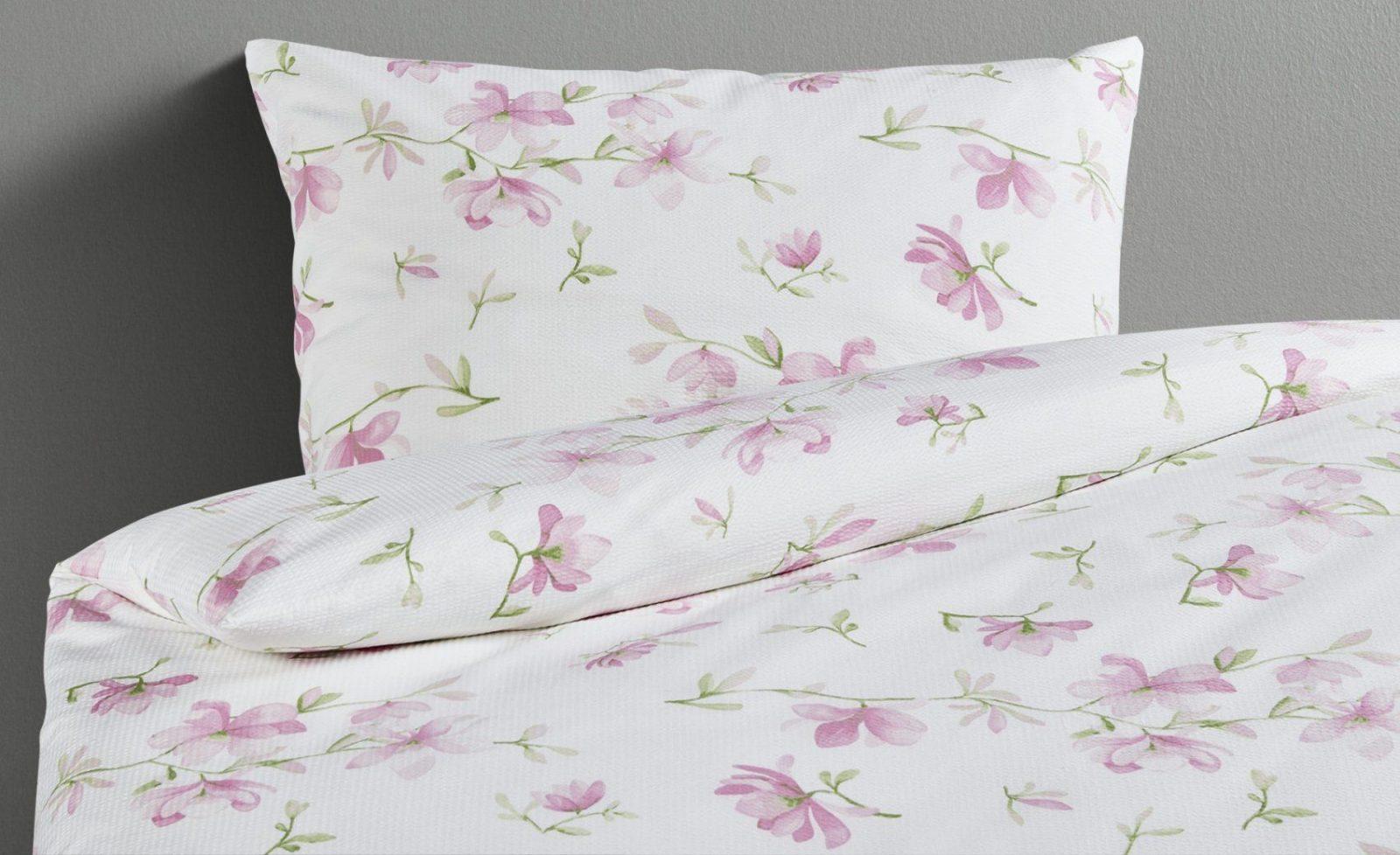 Lavida Seersuckerbettwäsche Pfingtsrose  Möbel Kraft von Übergröße Bettwäsche Maße Photo