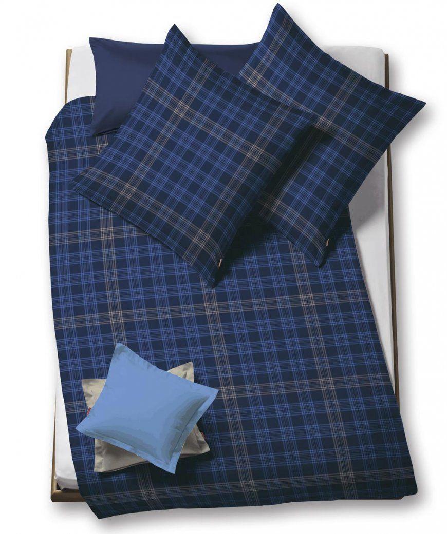 Lech  Flanellbettwäsche Blau Kariert Von Fleuresse 155X200 von Flanell Bettwäsche 155X200 Bild