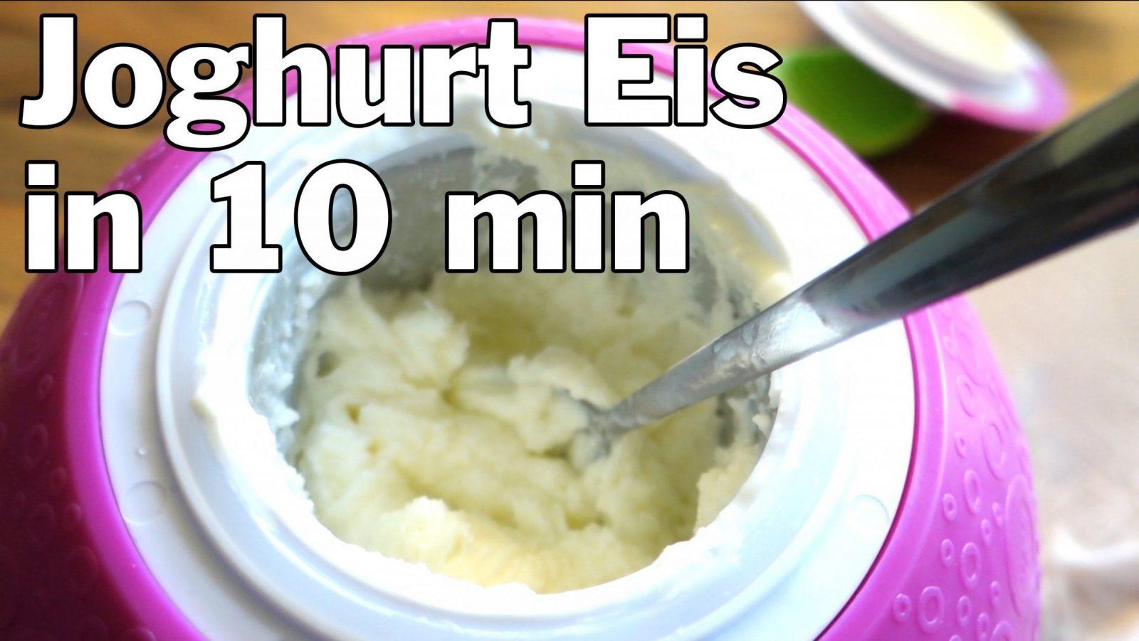 Leckeres Joghurt Eis Selber Machen In 10 Min Ohne Teure Eismaschine von Frozen Yogurt Selbst Machen Photo