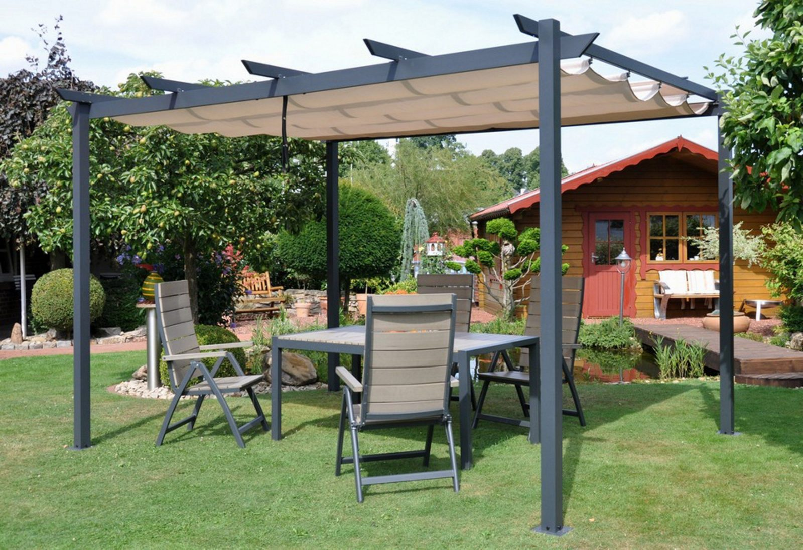 flachdachpergola 3 x 4 haus design ideen. Black Bedroom Furniture Sets. Home Design Ideas