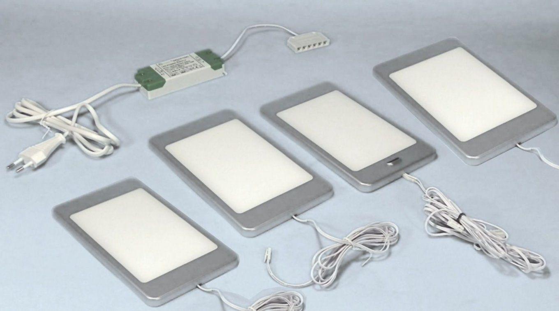 Led 4Er Set Küchen Unterbauleuchte Pine 4 X 6 W Neutralweiss von Küchen Unterbauleuchten Mit Sensor Photo