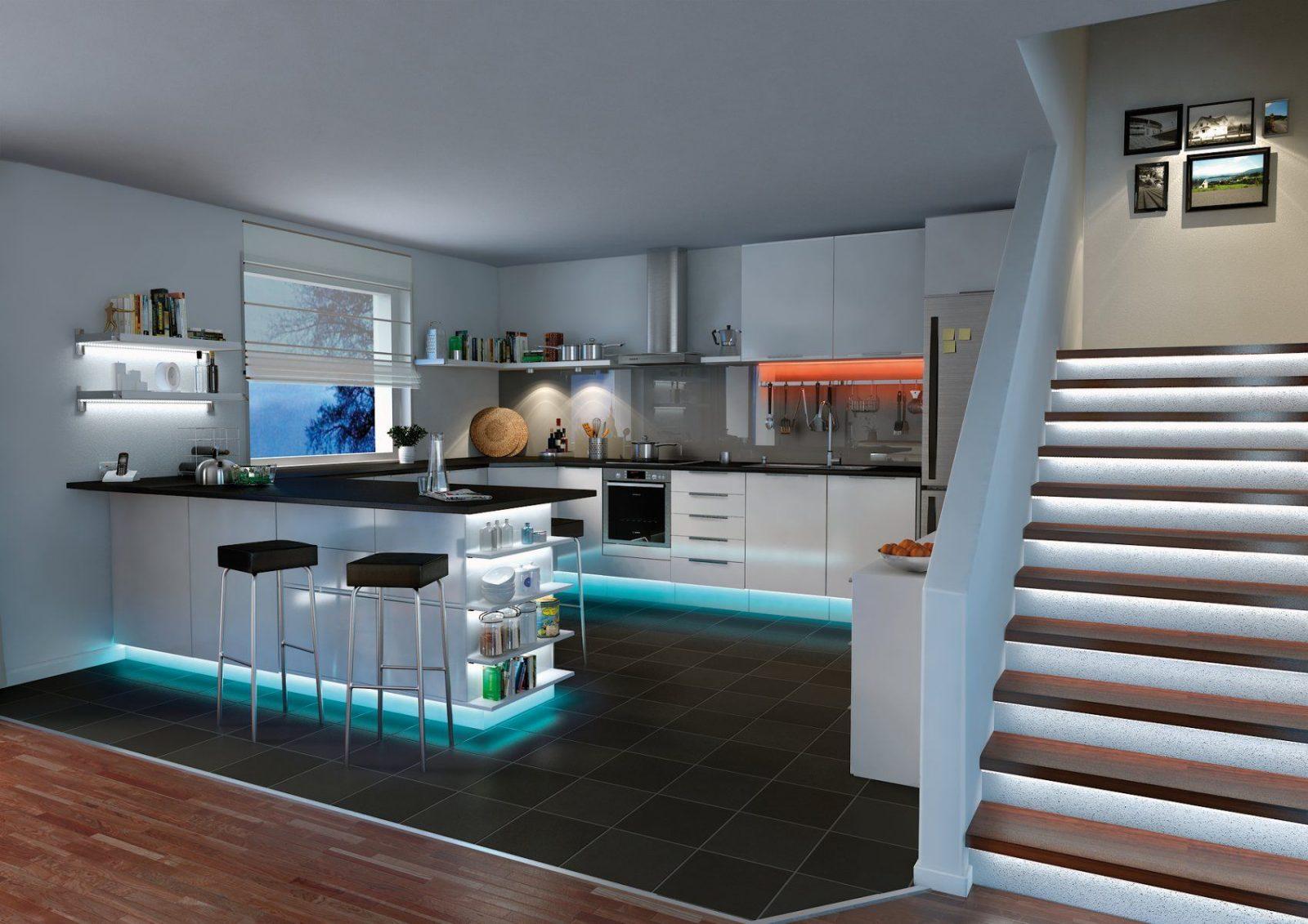Ledbeleuchtung In Der Küche Ledstripes Von Paulmann Für Unterbau von Led Beleuchtung Küche Unterschrank Bild