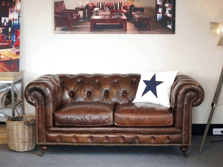 Ledersofa Kaufen Vintage Clubsofa 2 Sitzer Braun Chesterfield von Ledersofa 2 Sitzer Braun Bild