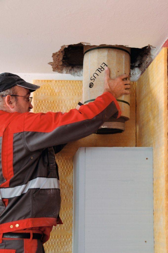 Leichtbauschornstein Im Trockenbau  Bauhandwerk von Schornstein Innen Nachträglich Einbauen Photo