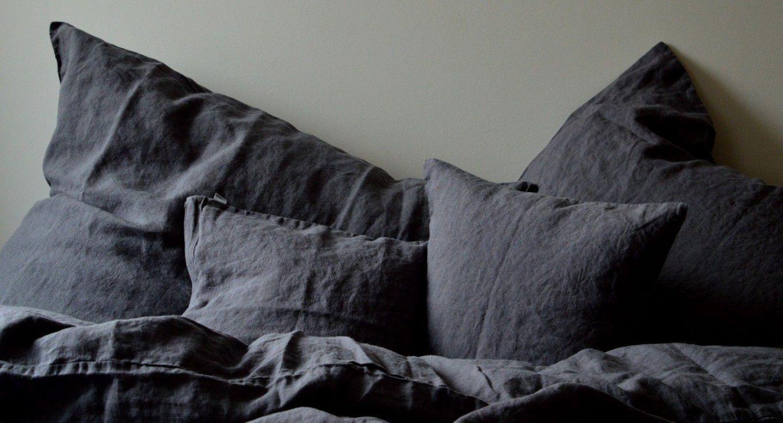 Leinen Bettwäsche Laima Dunkelgrau 200X 200 Cm; 40X 60 Cm 40X 80 von Leinen Bettwäsche Stonewashed Bild
