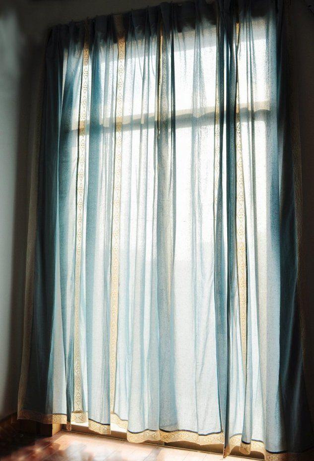 Leinen Gardinen Mit Spitze Great Retro Blau Fertigen Flssigkeit von Leinen Gardinen Mit Spitze Bild