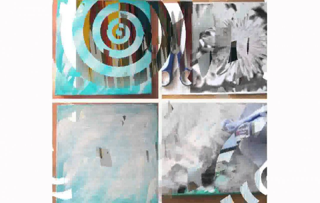 Leinwandbilder Selber Machen  Youtube von Collage Auf Leinwand Selber Machen Bild