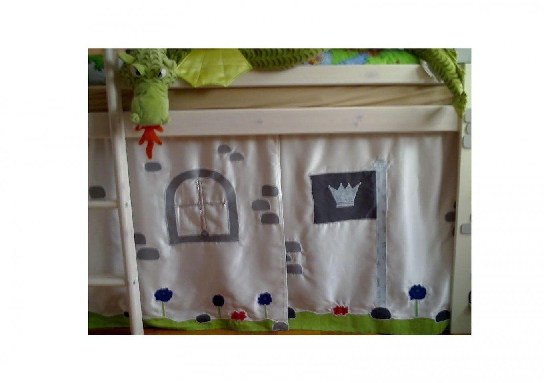 Lenabellaby Vorhang Für's Hochbett Vom Kleinen Ritter  Hochbett von Hochbett Vorhang Selber Nähen Photo