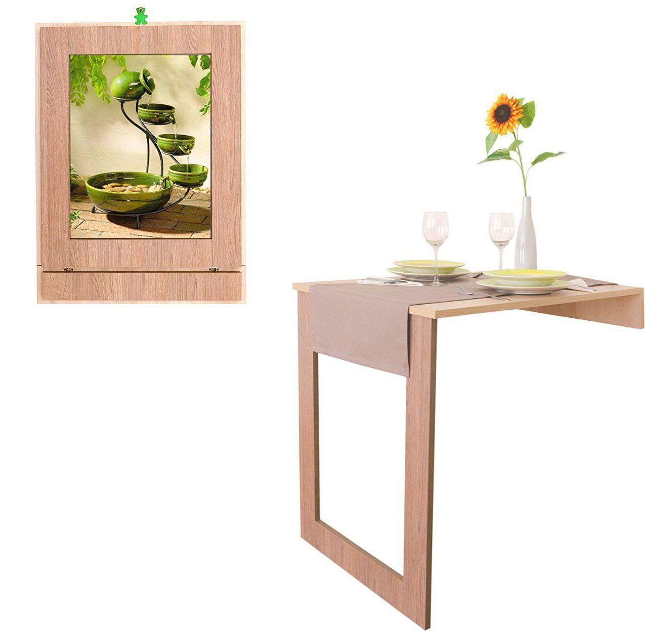 Lera Eleganter Klapptisch Karina Wandtisch Küchentisch Avec Esstisch von Klapptisch Für Die Wand Photo
