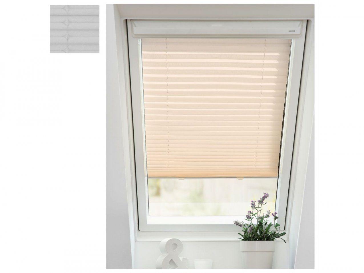 Lichtblick Dachfenster Plissee Haftfix Ohne Bohren  Lidl von Velux Dachfenster Plissee Ohne Bohren Bild