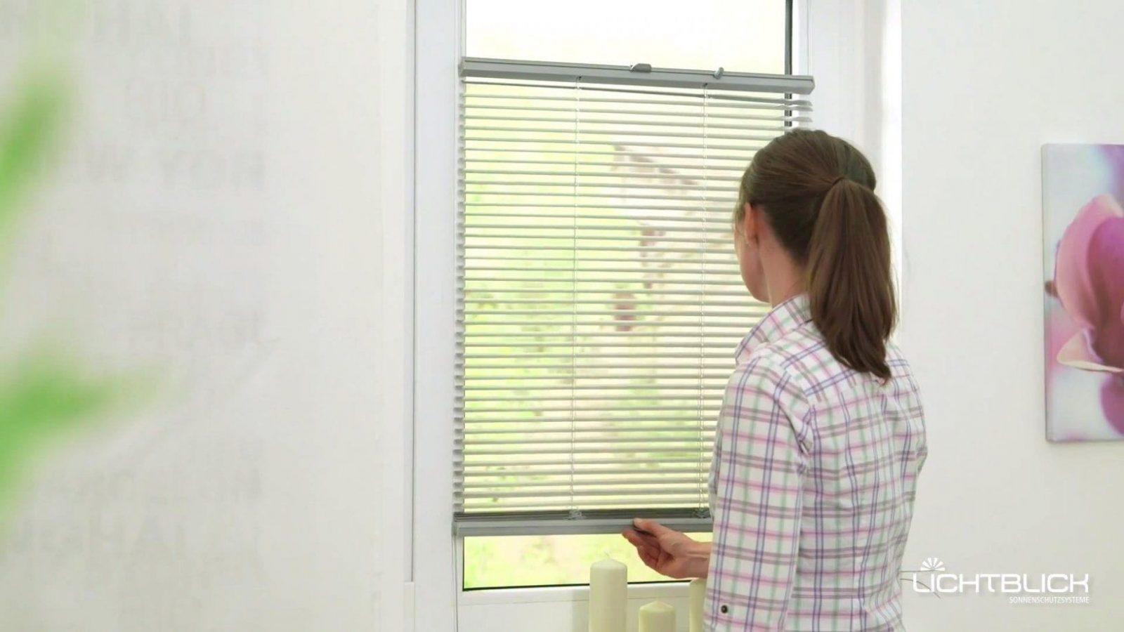 Lichtblick Jalousie Klemmfix Top Ohne Bohren Verspannt von Fenster Jalousien Innen Ohne Bohren Photo