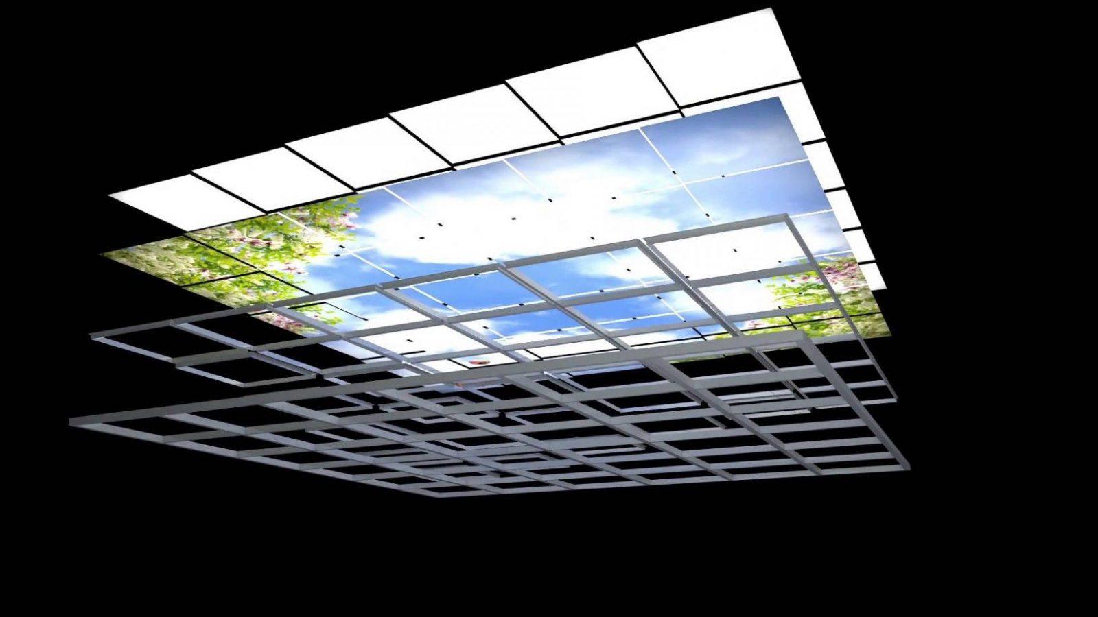 Lichtdecken Led  Lumisky  Youtube von Led Lichtdecke Selber Bauen Bild