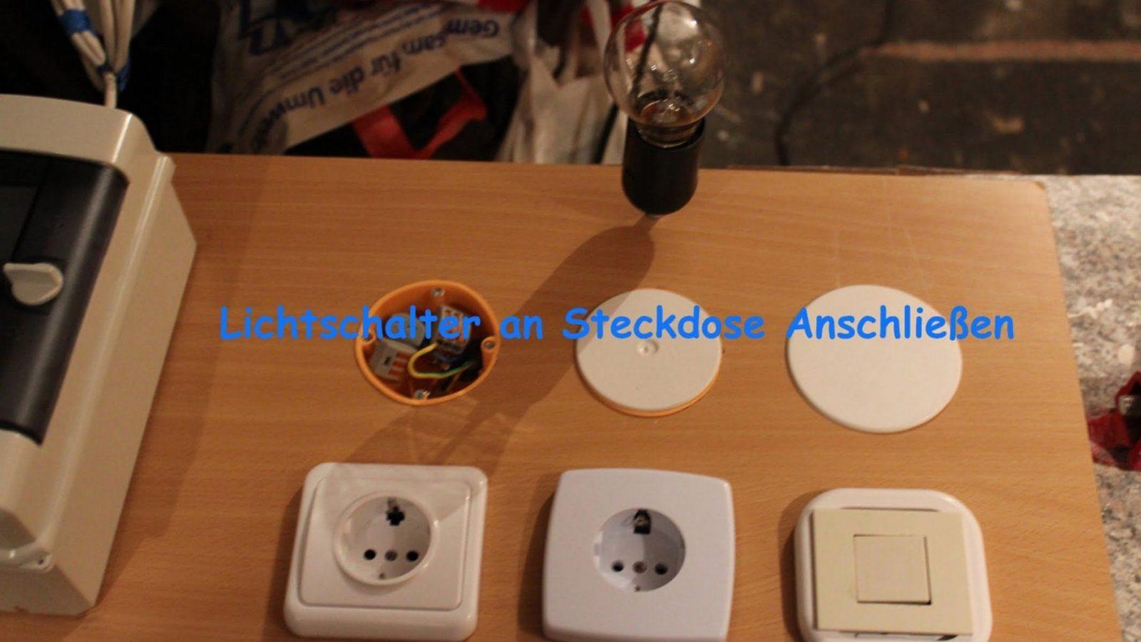 Lichtschalter An Steckdose Anschließen  Youtube von Steckdose An Lichtschalter Anklemmen Photo