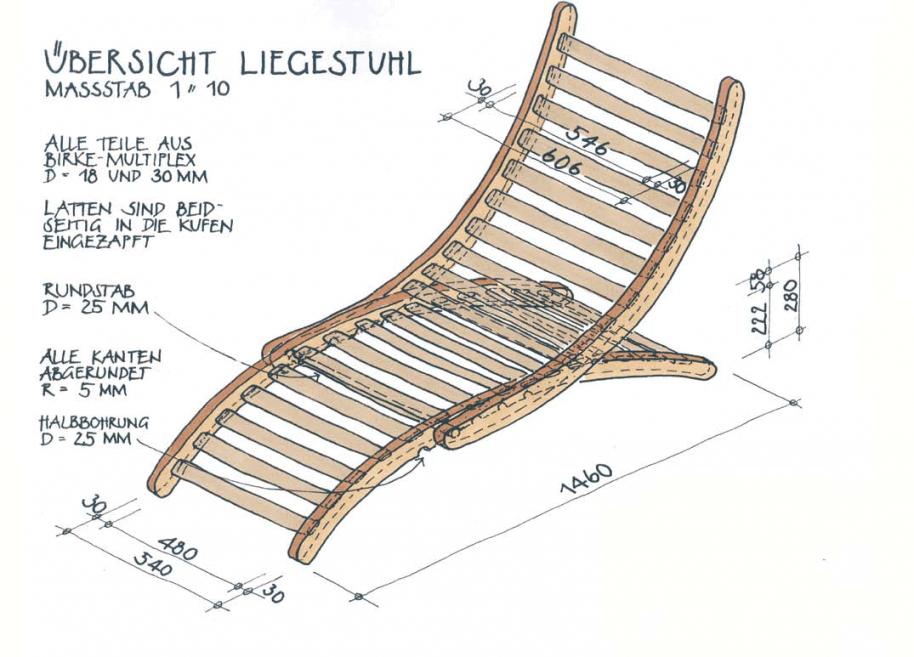 Liegestuhl Bauen von Holz Liegestuhl Selber Bauen Bild