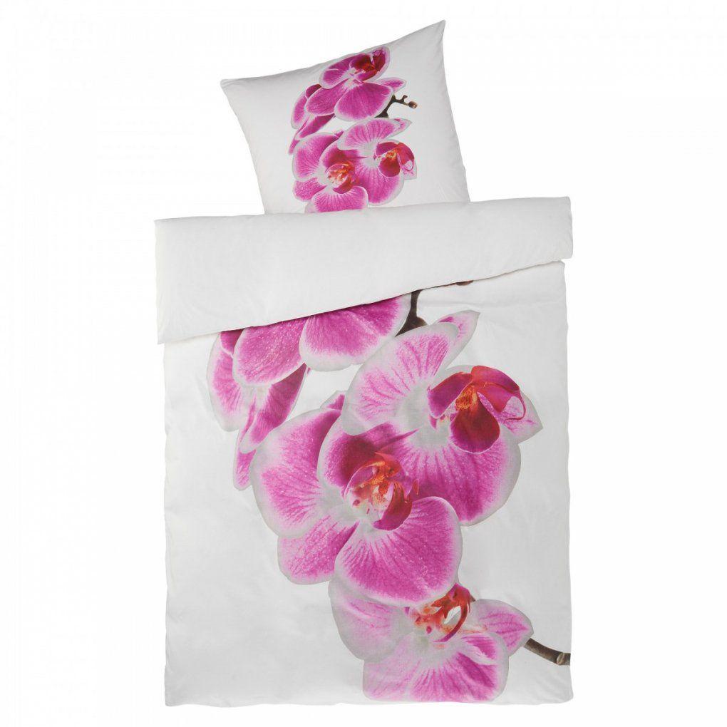 Linonbettwäsche Orchidee (135 X 200 Lilaweiß)  Dänisches Bettenlager von Bettwäsche Orchideen Motiv Photo