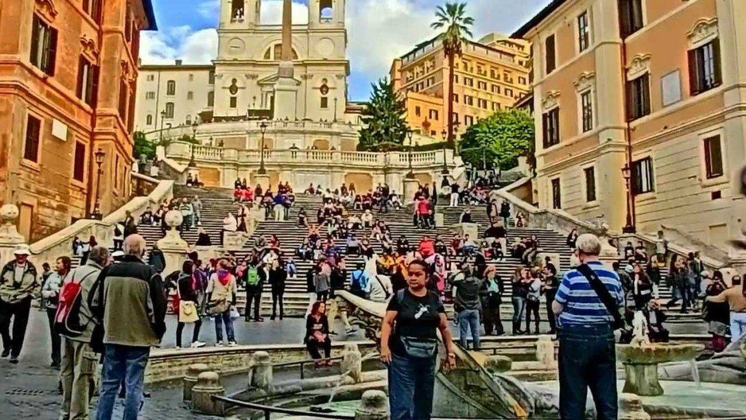 Livecam Wonderful Roma Piazza Di Spagna  Spanish Steps  Youtube von Webcam Rom Spanische Treppe Bild