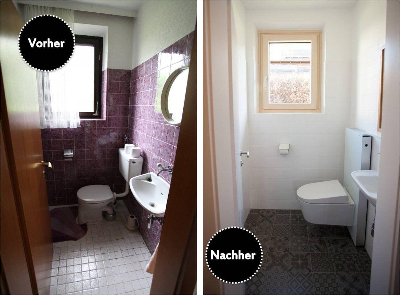 Lobeshymne Auf Unser Neues Duschwc  Wohnprojekt  Wohnblog Für von Gäste Wc Fliesen Oder Streichen Photo