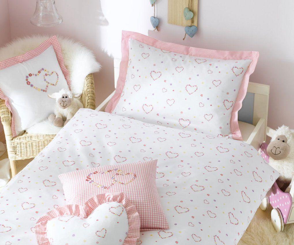 Lorena Kinderbettwäsche Lilly Makosatin Herzen Online Kaufen  Bms von Rosa Karierte Bettwäsche Photo