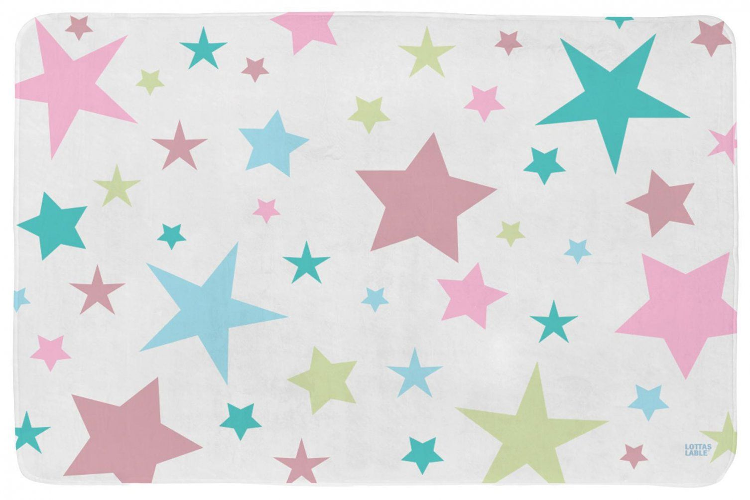 Lottas Lable Kinderteppich Partysterne Mädchen  Waschbare von Lottas Lable Teppich Sterne Photo