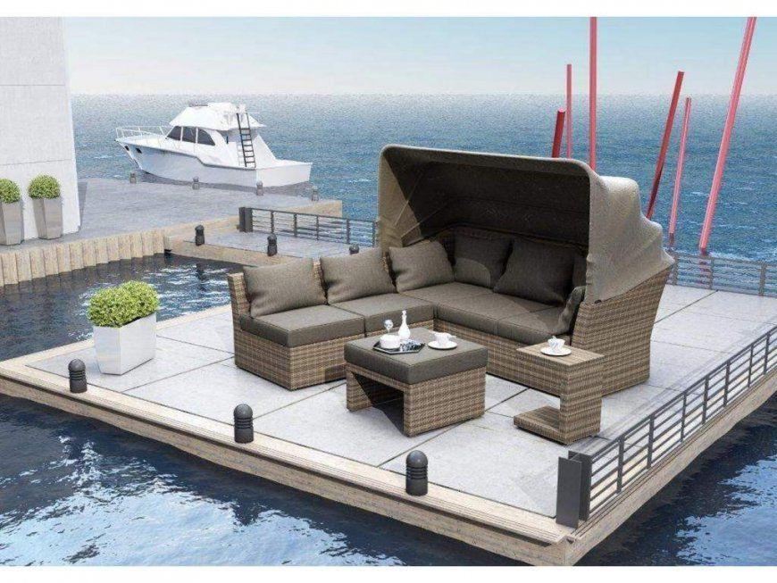 Loungeset Rabida 1 Loungesofa Mit Sonnendach 2 Mittelelemente 1 von Lounge Sofa Mit Dach Bild