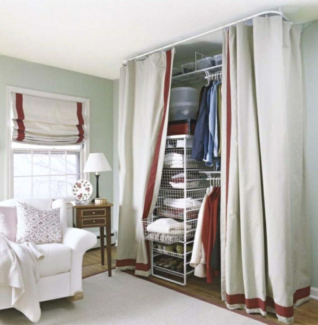 Lovely Vorhang Kleiderschrank Ideen Für Offenen Im Schlafzimmer Wie von Kleiderschrank Selber Bauen Mit Vorhang Photo