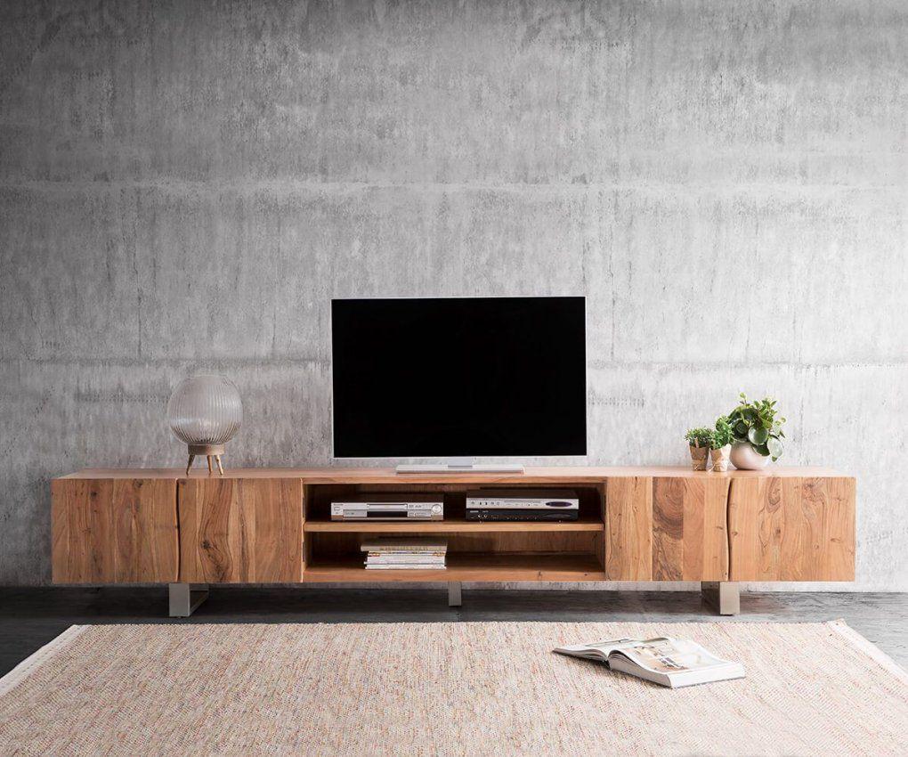 Lowboard Liveedge 300 Cm Akazie Natur 2 Türen 2 Fächer  Tv Cabinet von Tv Lowboard 300 Cm Bild