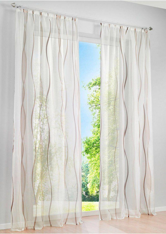 Luftigleichte Gardine Vienna In Transparenter Optik  Creme Braun von Bonprix Katalog Gardinen Bild