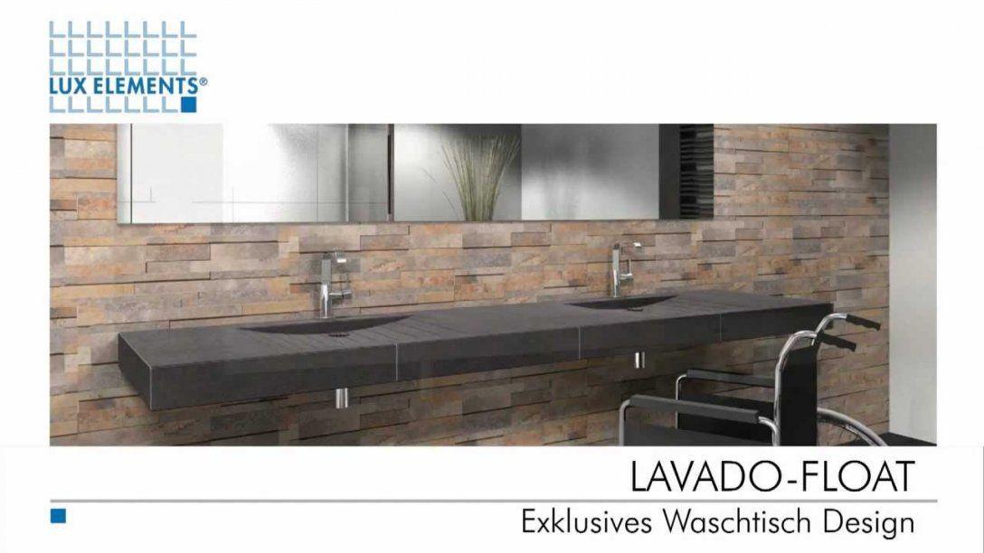 Lux Elements Exklusives Waschtisch Design  Youtube von Waschbecken Platte Selber Bauen Photo
