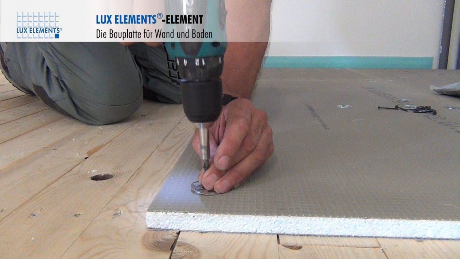 Lux Elements Montage Bauplatte Element Auf Holzböden  Youtube von Fliesen Legen Auf Holz Photo