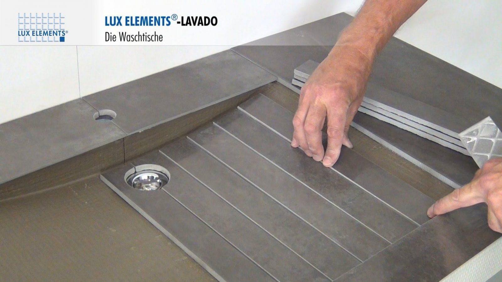 Lux Elements Montage Waschtische Lavado Im Schwebenden Design  Youtube von Waschtisch Selber Bauen Bauplatten Bild