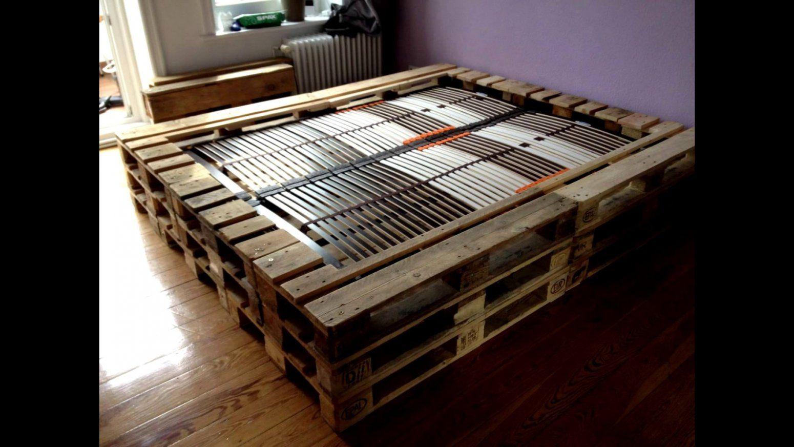 Luxuriös Doppelbett Aus Europaletten Zum Bett Selber Bauen Anleitung von Bett Selber Bauen Anleitung 180X200 Bild