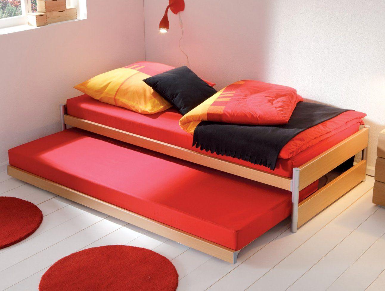 ... Luxuriös Einzelbett Mit Unterbett Weia Rheumriehbett Kinderbett Bett  Von Ausziehbett Gleiche Höhe Ikea Bild ...