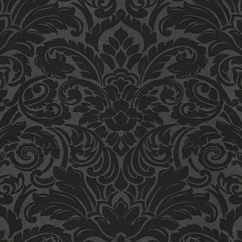 Luxury Wallpaper  Schwarze Ornament Tapete von Schwarze Tapete Mit Muster Photo