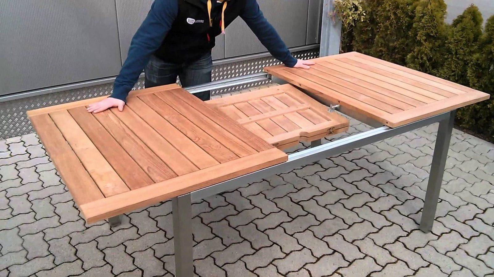 Luxus Gartentisch Ausziehbar Alu  Badgestaltungfliesen von Gartentisch Ausziehbar Alu Holz Bild