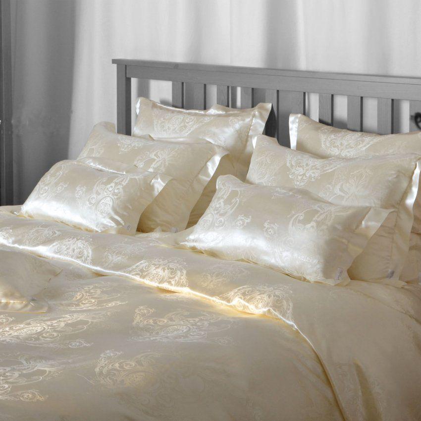 Luxus Seidenbettwäsche Akanthus Mit Charmantem Fehler  News Von von Plauener Seidenweberei Bettwäsche Bild