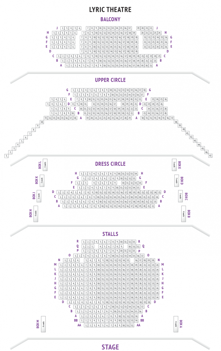 Lyric Theatre Seating Plan London  Boxofficeuk von Lyric Opera Seating Chart Photo
